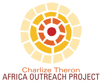 logo of an abstract sunburst for the Charlize Theron Africa Outreach Project