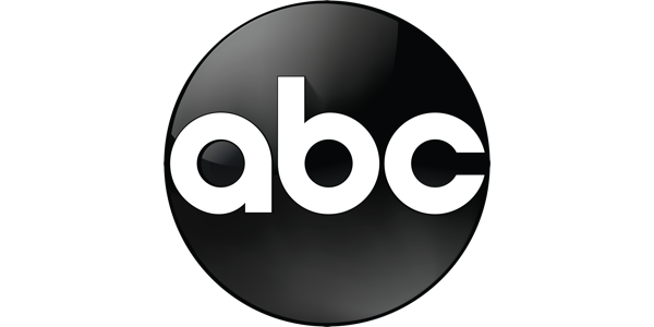 "logo for American Broadcasting Company of a black circle with lowercase letters spelling ""abc"" in white"