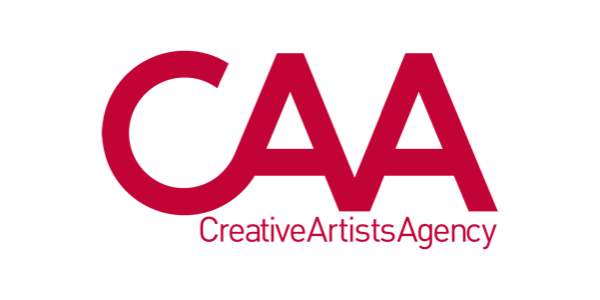 "logo for Creative Artists Agency of large red letters spelling ""CAA"""