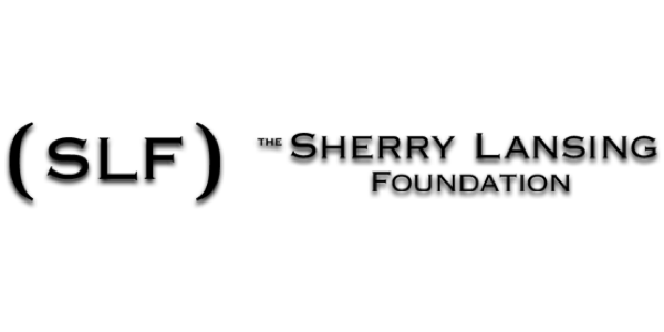 "logo of stylized letters spelling ""The Sherry Lansing Foundation"" in black"