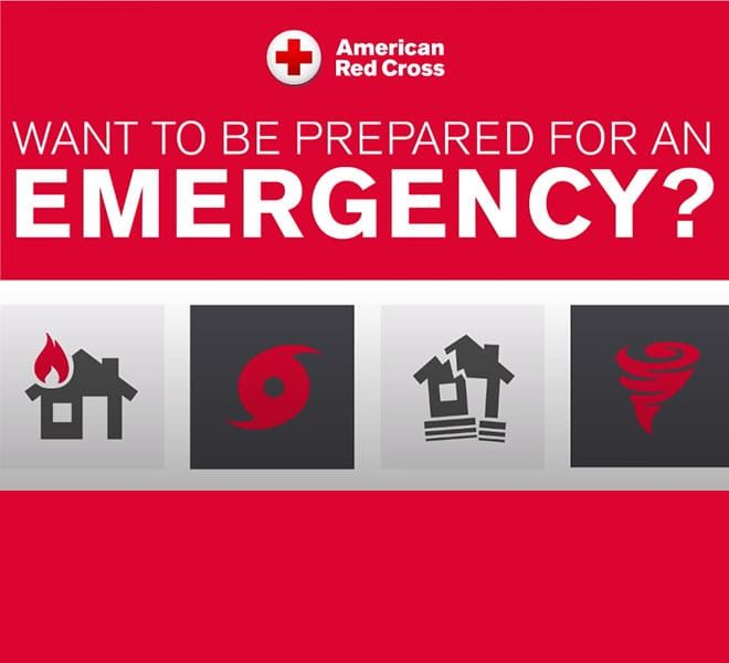 Red Cross emergency preparedness icons