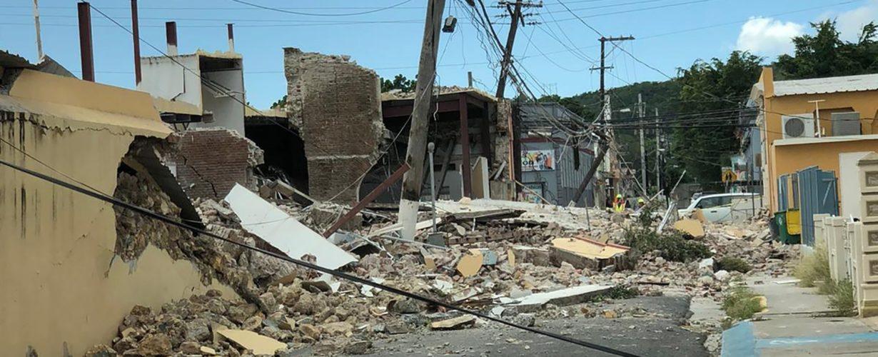 destroyed buildings